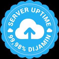 Garansi Server Uptime 99%